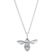 Sterling Silver mini Bee Pendant on chain