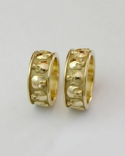 14k Yellow gold Skull bands