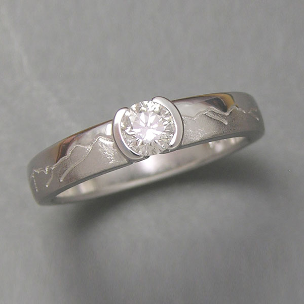 Mountain Wedding Rings In Boulder Range Rings Cronin