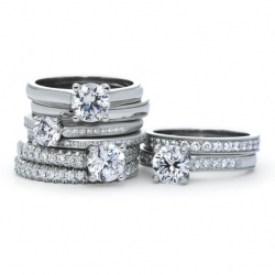 Petite Flush Fit Engagement rings and Wedding bands available in White gold, Platinum, Yellow gold or Rose gold