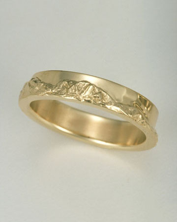 Range Rings Or Mountain Are Entirely Original In Their Design With Each Peak And Carved To Represent The Actual Landscape