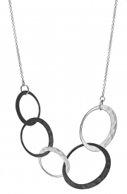 Recycled two-tone Silver Eclipce necklace