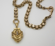 Bloomed 14k Yellow gold Memorial Locket on Chain(1)